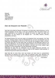 Designerin Malawelt Pressetext