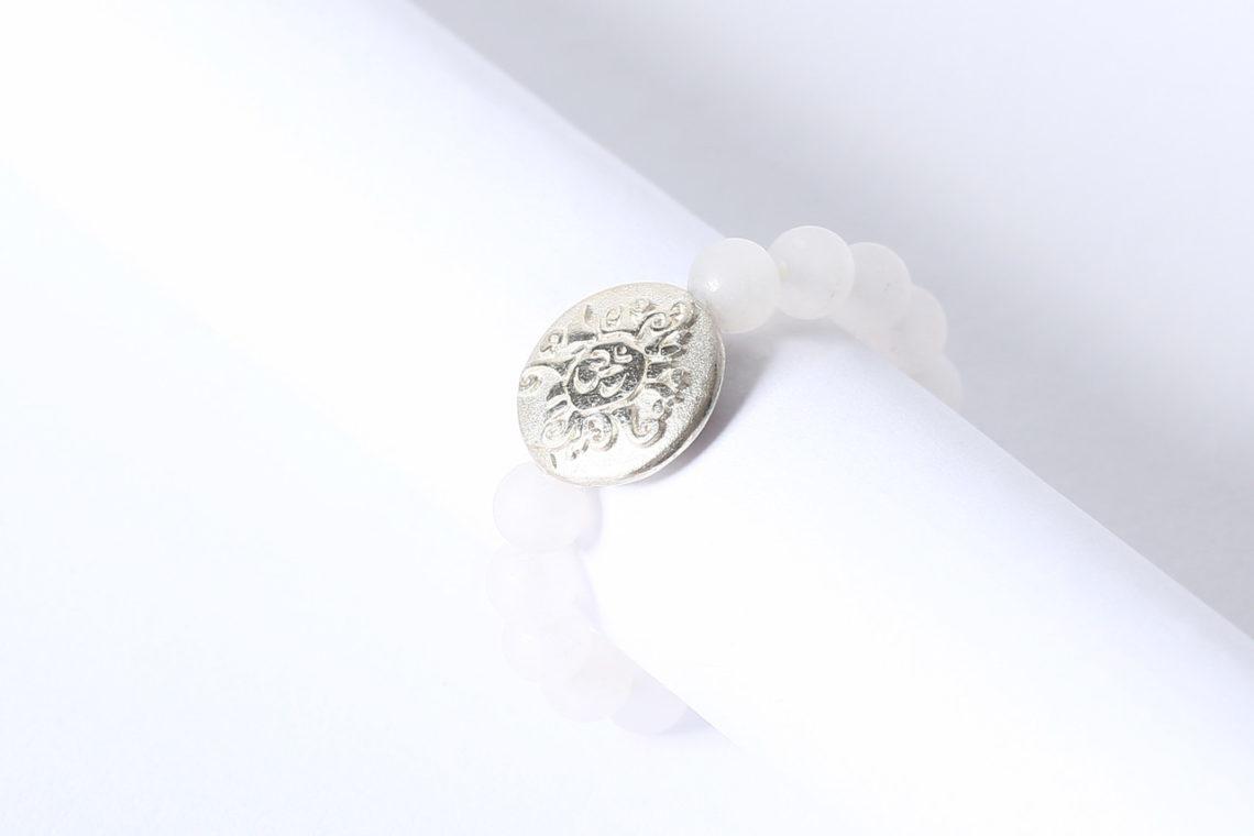 Mala Ring Rosenquarz