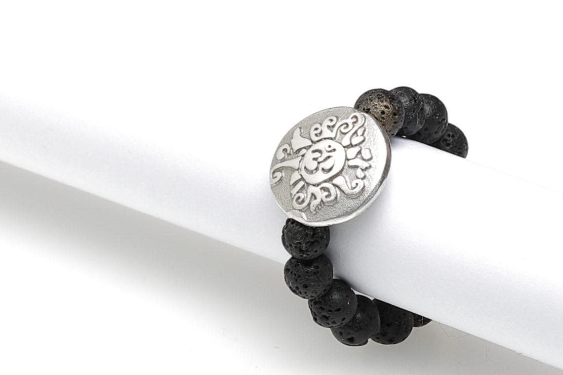 flexibler Perlen Ring Lava