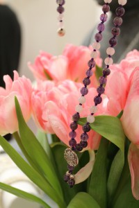 Amethyst Mala Blumen