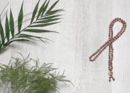 Mala Yogakette Rhodonit