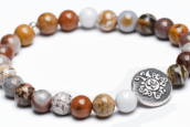 Yogaschmuck Ocean Jaspis Silbermünze geschwärzt 6mm