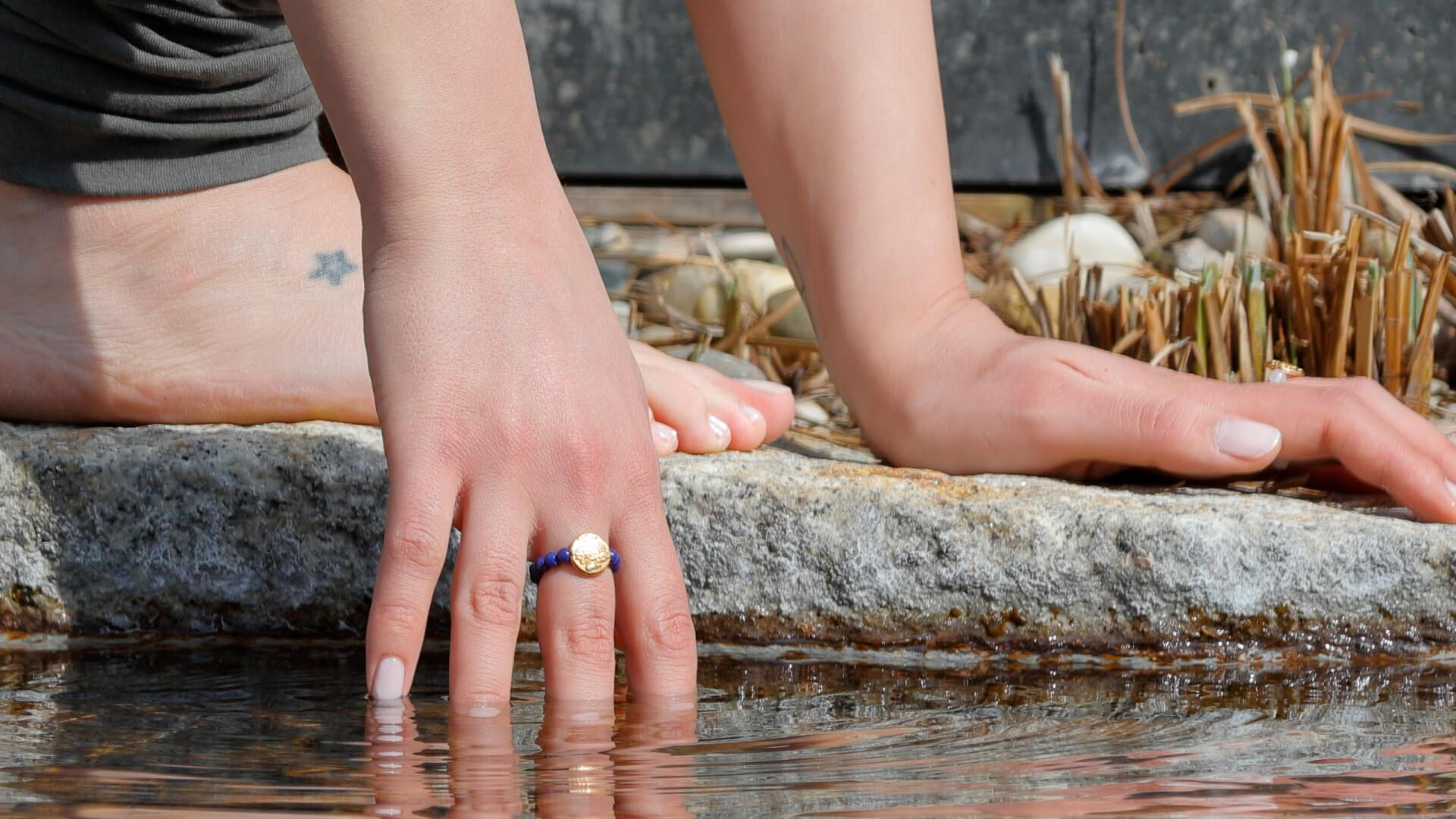 Yogaschmuck Ring Lapislazuli