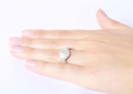 Mala Ring mit Silber-Münze