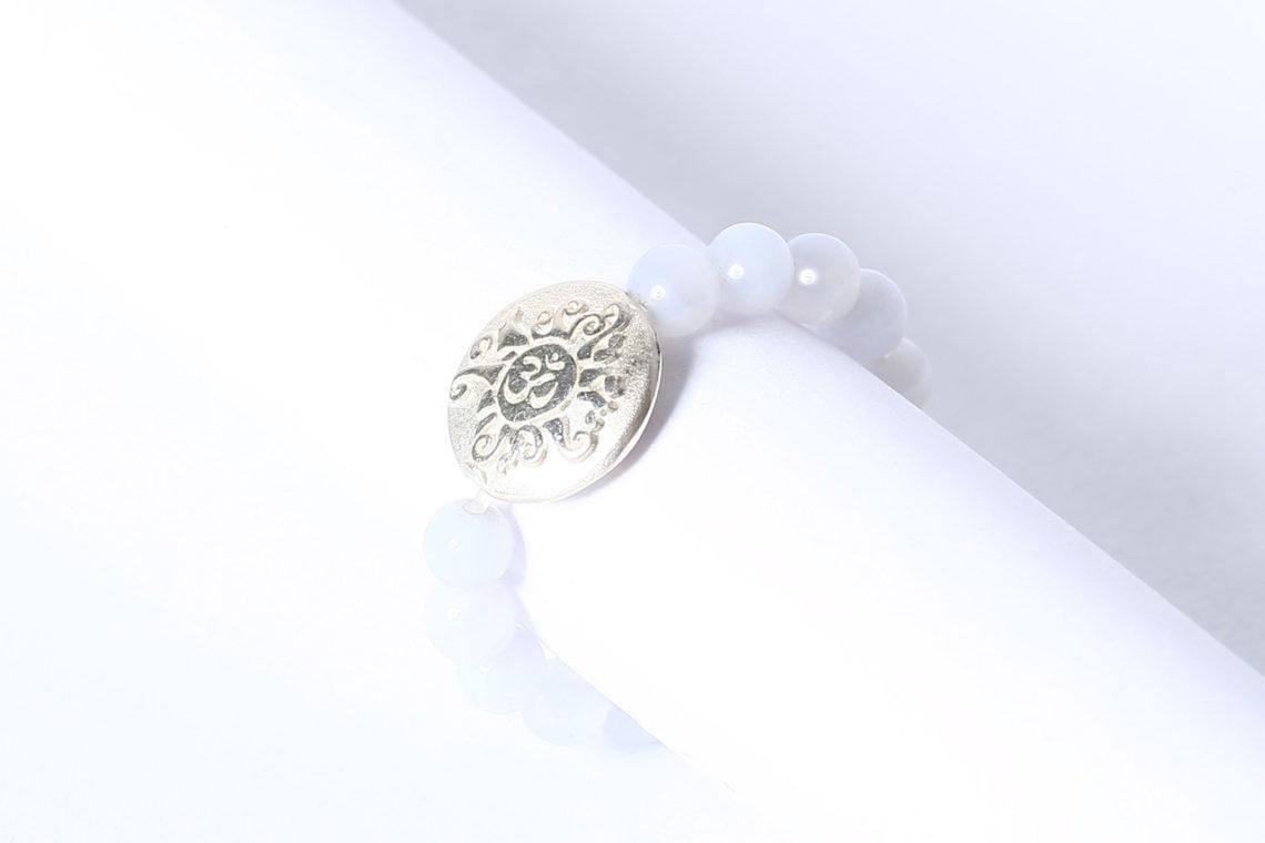Chalcedon Perlen Ring