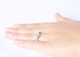 Edelstein Perlenring Chalcedon