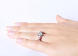 Ring flexible Größe Rhodonit