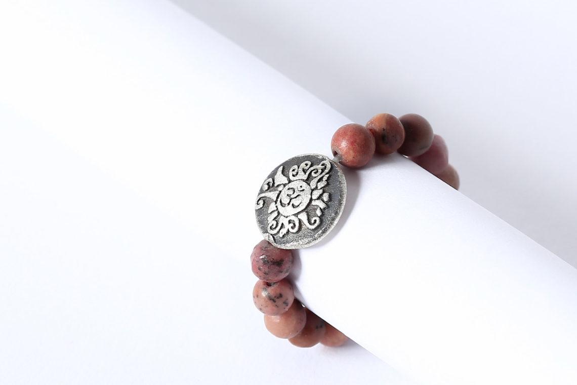 Mala Ring Rhodonit