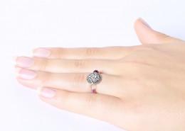 Fluorit Perlen Ring