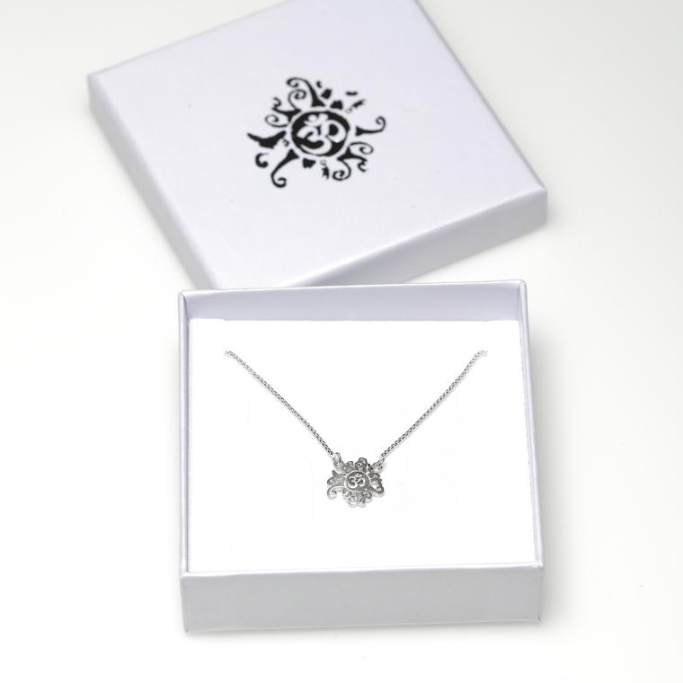 Damen Halskette Silber