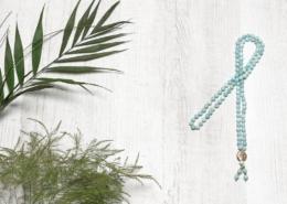 Mala Yogakette Amazonit matt