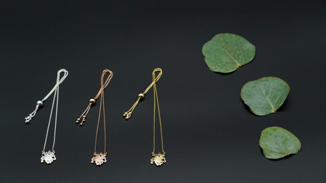 Fußkettchen Halskette OM silber rosé gold