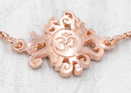 YogaSchmuck Collection Malasonne und OM Anhänger Armkette silber