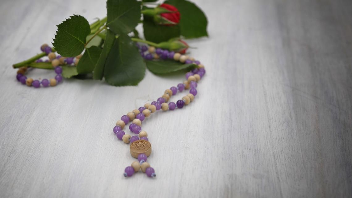 34#108 Jade Lavendel gefärbt mit Tulsi 6m