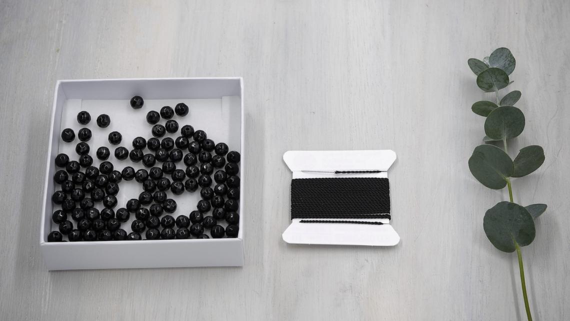 Mala Perlen Set Onyx