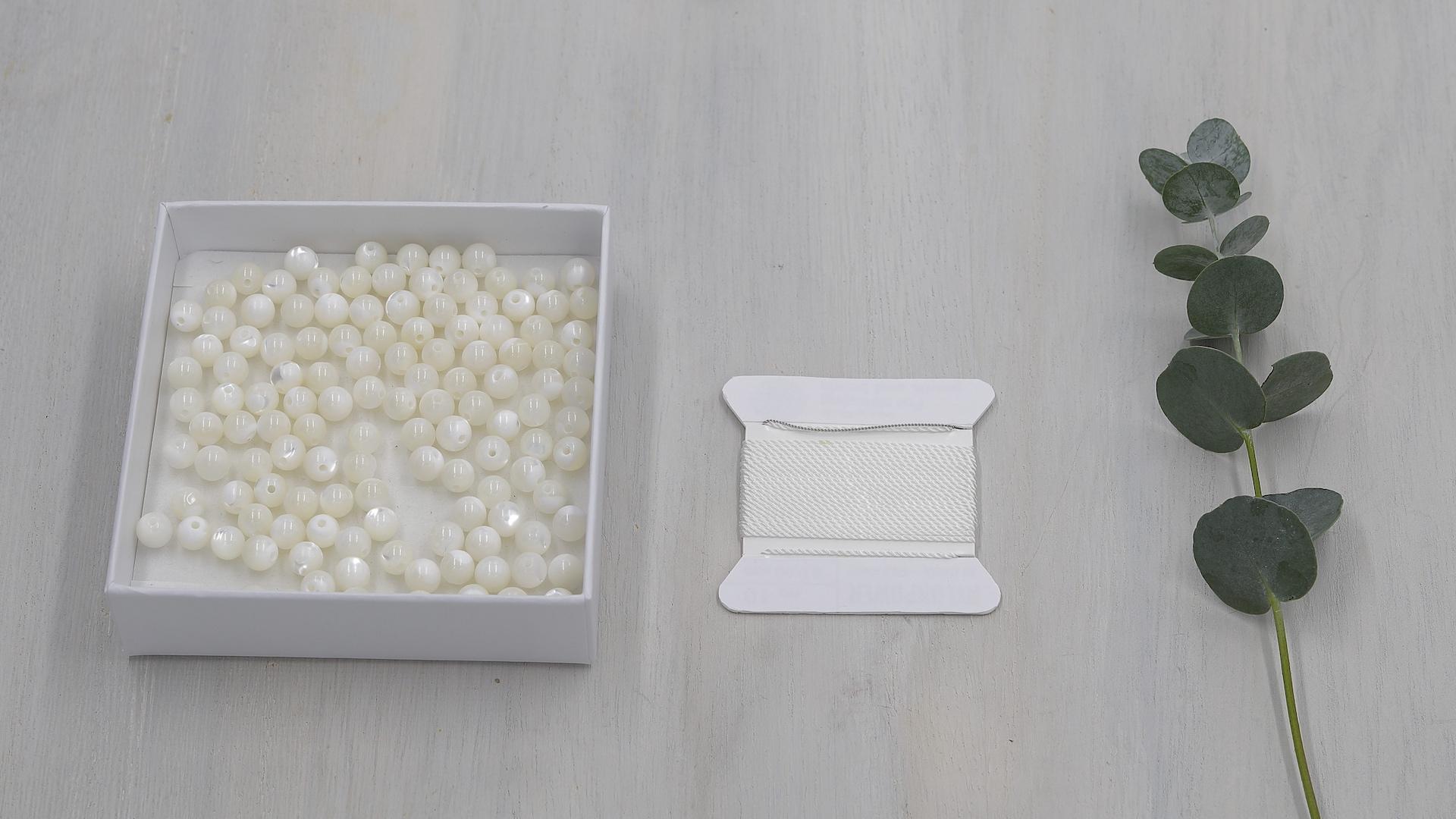 Mala Set Perlmutt, 108 Perlen in 6mm