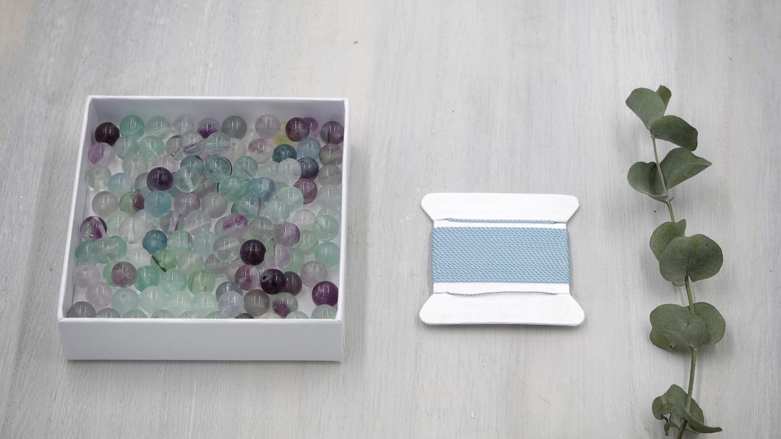 Mala Perlen Set Fluorit 8mm
