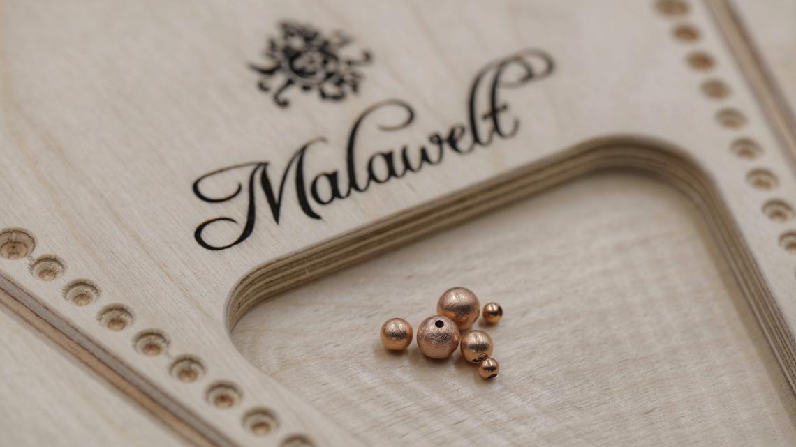 Mala selber machen Silber Kugeln rosegold Zwischenperlen